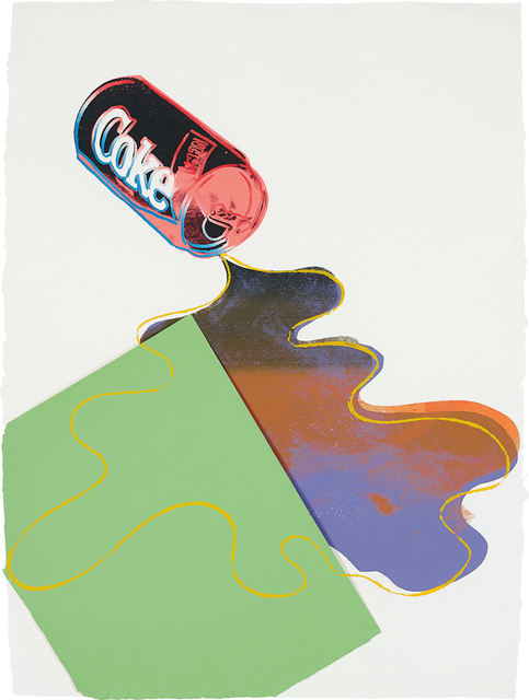 Andy Warhol, 'New Coke', ca. 1985, Print, Unique screenprint in colours, with graphic art paper collage, on wove paper, the full sheet, Phillips