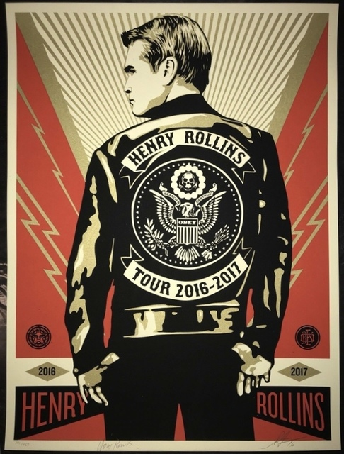 Shepard Fairey, 'Henry Rollins Tour 2016', 2016, New Union Gallery