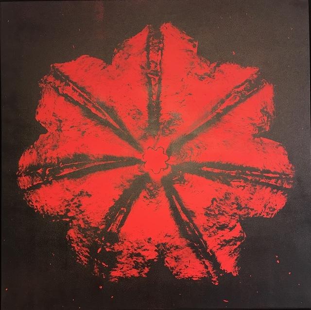 , 'Power Flower N-4 (Red on black),' 2016, Octavia Art Gallery