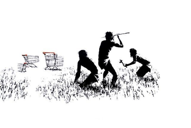 Banksy, 'Trolley hunters', 2007, MUCA