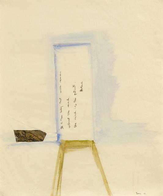 Nancy Spero, 'Untitled (Artaud-Series)', 1969, Mixed Media, Gouache on vellum, collaged, Van Ham