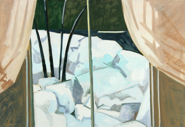 Lois Dodd, 'Window and Ice Bank', 1983, Painting, Oil on Masonite, Alexandre Gallery