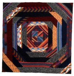 Ottavio Missoni, 'Arazzo (26)', 1981, Design/Decorative Art, Wool fabric patchwork on wooden panel, GASCONADE