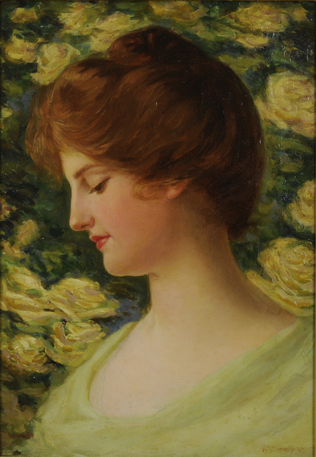 , 'Portrait of a Young Girl,' ca. 1895, Thomas French Fine Art