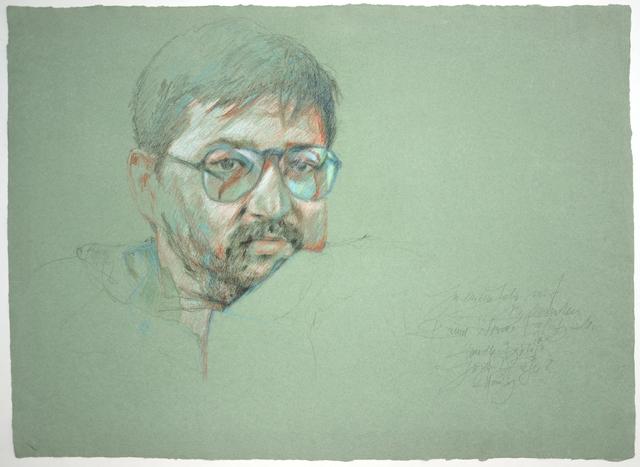 ", 'Portrait Fassbinder (""Querelle""-Zyklus),' 1982, Galerie Kornfeld"