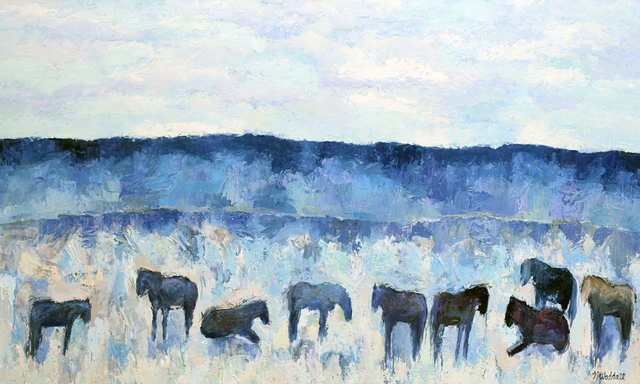 Theodore Waddell, 'Picabo Horses #4', 2018, Gail Severn Gallery