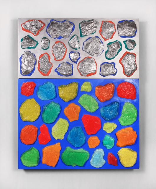 , ' Wall-Wall No. 17 (Ultramarine/Silver),' 2015, Lehmann Maupin