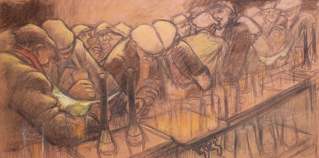 , 'Busy bar,' , Castlegate House Gallery