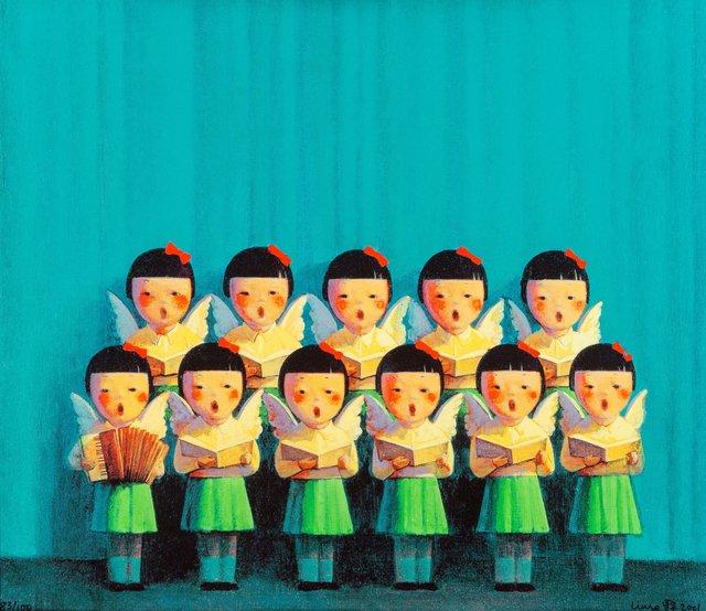 Liu Ye 刘野, 'Choir', 2007, Print, Screenprint in colors on canvas, Heritage Auctions