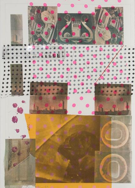 Robert Rauschenberg, 'Cage', 1983, Print, Color screenprint with collage, Vertu Fine Art