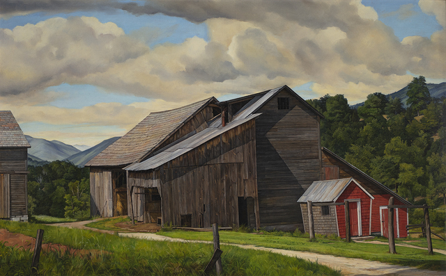 Luigi Lucioni, 'The Weathered Barn', 1947, Painting, Oil on canvas, Questroyal Fine Art