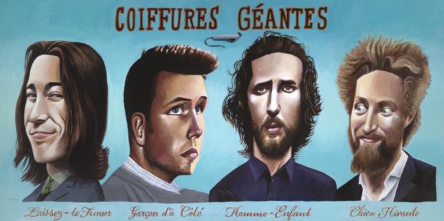 , 'Coiffures Géantes,' 2018, Modernism Inc.