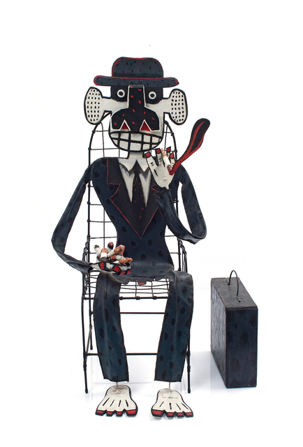 Norman Catherine, 'The Chairman', 1988, Sculpture, Acrylic on canvas, wood and metal, Strauss & Co