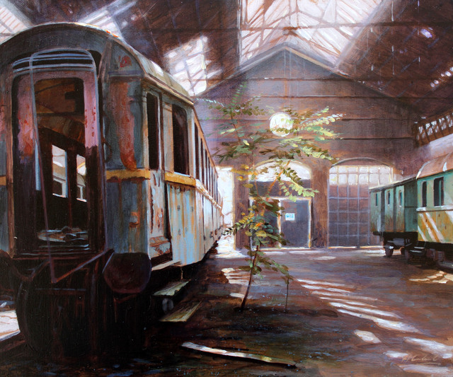 , 'Study for The Last Stop,' 2018, Reuben Colley Fine Art