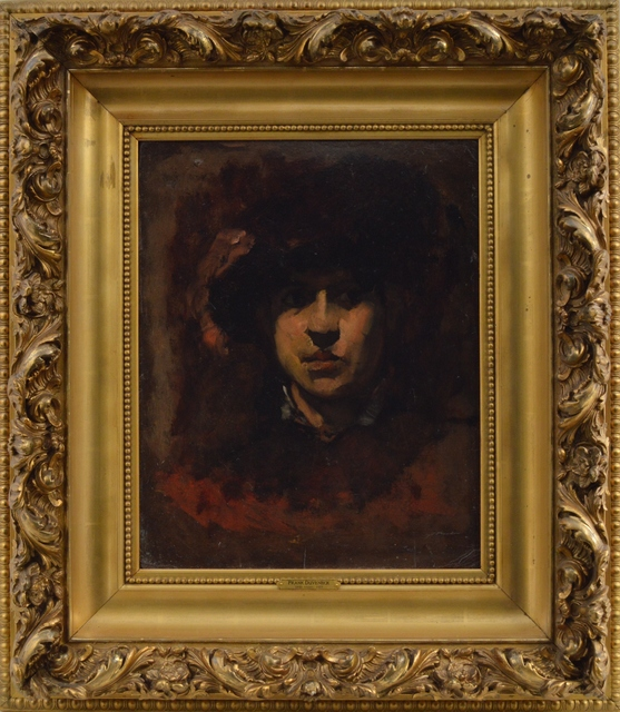 Frank Duveneck, 'Women in Black Hat', Eisele Gallery of Fine Art