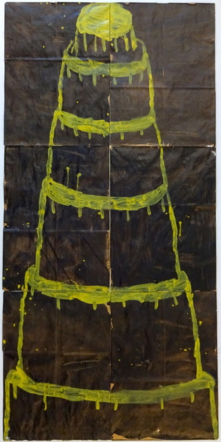 , 'Stacked Cake Yellow on Black,' 2016, Elins Eagles-Smith Gallery