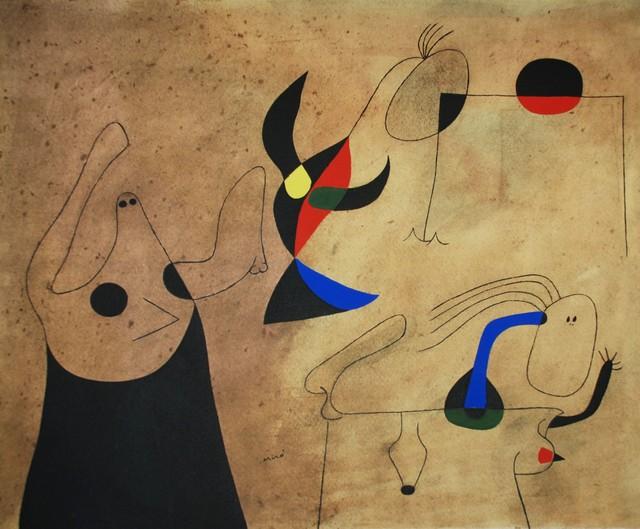 Joan Miró, 'Femmes sur la plage (Women on the Beach), Plate IV', 1959, Georgetown Frame Shoppe