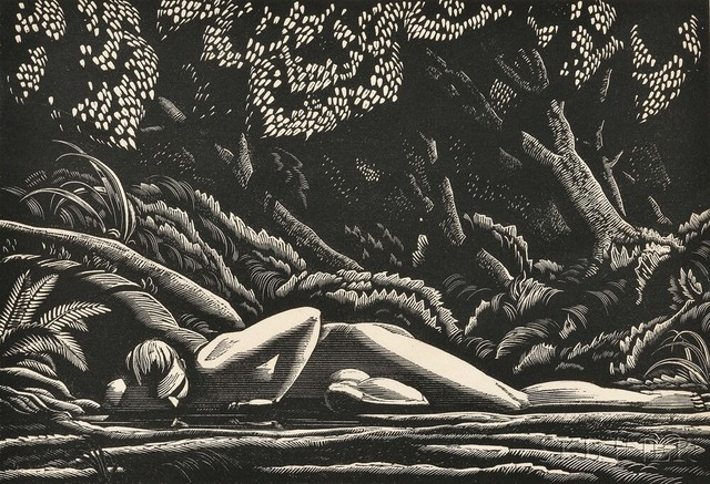 Rockwell Kent, 'Forest Pool', 1927, Keene Arts