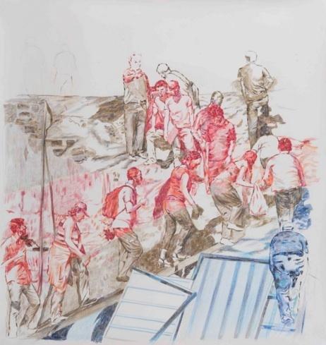 , 'Çapraz Tırmanış I / Criss Cross Climbing I,' 2014, Galeri Miz