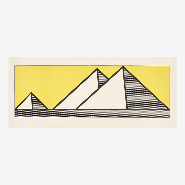 Roy Lichtenstein, 'Pyramids', 1969, Print, Lithograph in colors (framed), Rago/Wright