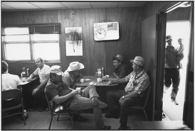 , 'Farmers in a coffee shop at the auction barn, Sleepy Eye, Minnesota,' 1986, Les Douches La Galerie