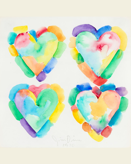 Jim Dine, 'Four Hearts', 1970, Galerie d'Orsay