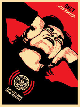 Shepard Fairey, 'Obey With Caution (06)', 2006, Black Book Gallery