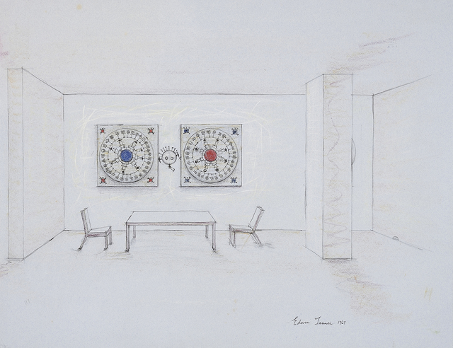 , 'Untitled (Interior - study for a mural),' 1967, Charles Nodrum Gallery