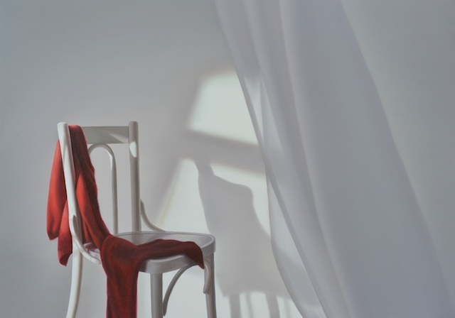 , 'Chair with red,' 2016, GALLERIA STEFANO FORNI