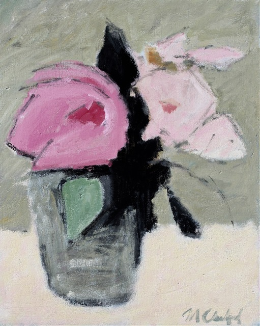 , 'Pink Roses,' 2017, J. Cacciola Gallery