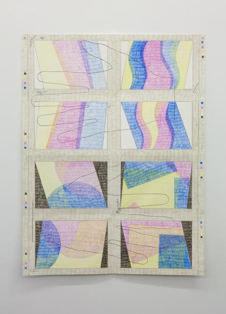 , '#124, Press Sheet,' 2017, Tatjana Pieters
