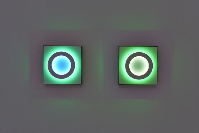 , 'Reflections v2, Ring Structure (two panels, East wall),' 2019, The Hole