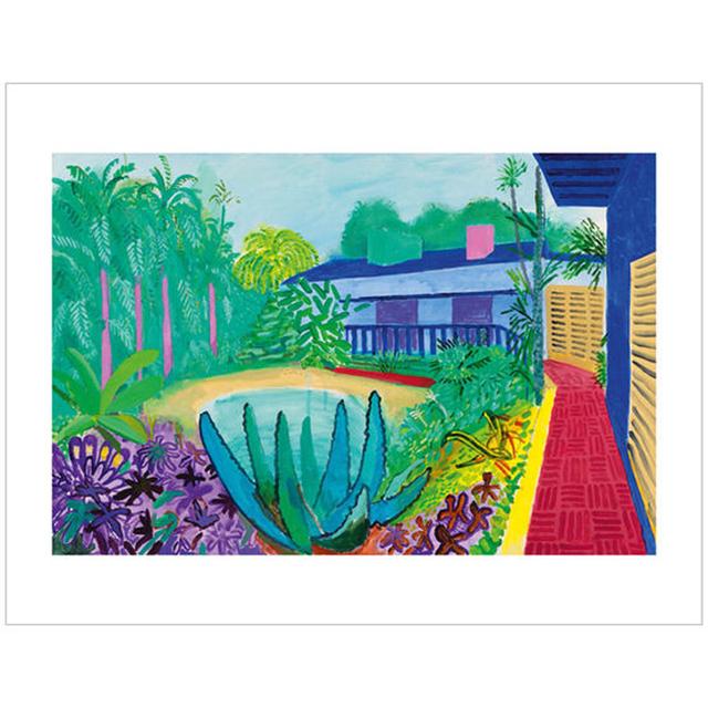 David Hockney, 'Garden', 2017, Print, Ten colour giclée printed on 330 gsm somerset enhanced radiant white 100% cotton rag paper with torn edges, EHC Fine Art Gallery Auction