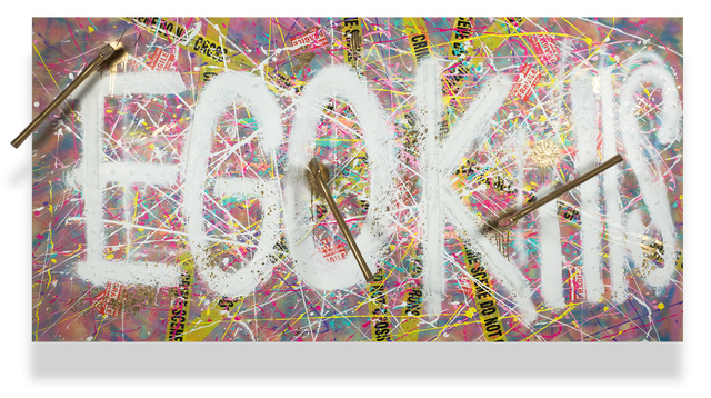 , 'Ego Kills (Gold Axes),' 2017, DETOUR Gallery
