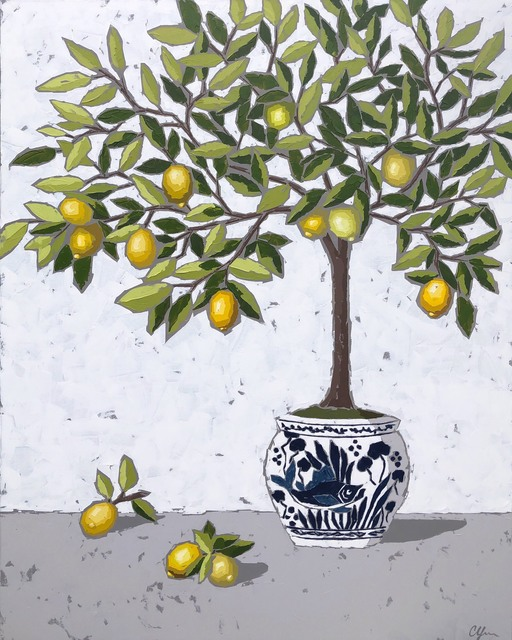 Christie Younger, 'Lemons in Chinoiserie II', 2019, Shain Gallery