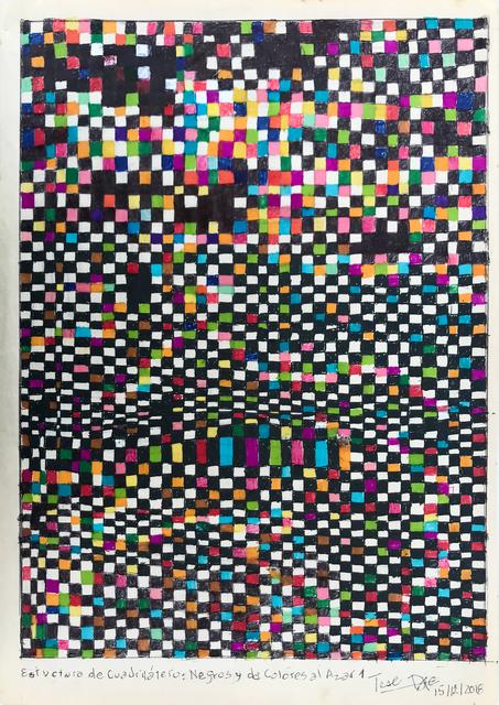 Teresa Burga, 'Estructura de cuadriláteros negros y de colores al azar 1', 2018, 80M2 Livia Benavides