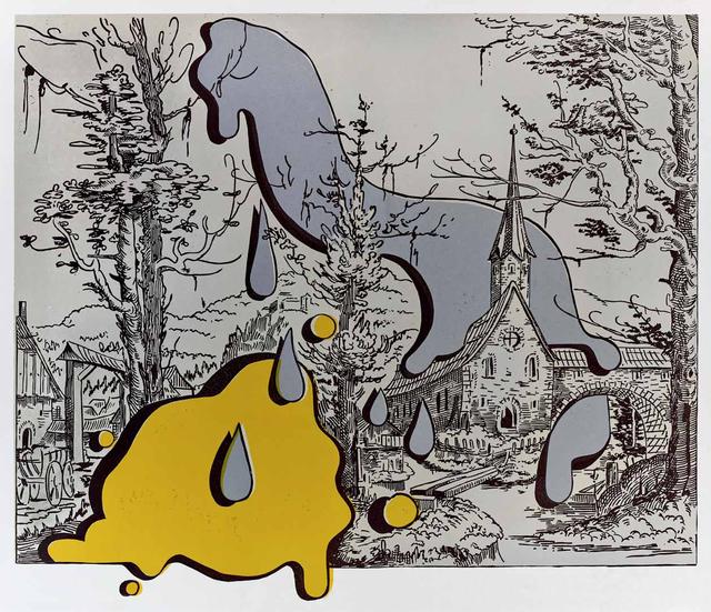 Steve Viezens, 'Landscape with spots I', 2018, Print, Lino cut, Galerie Kleindienst