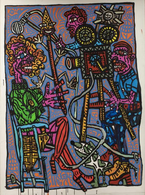 Robert Combas, 'Sur le plateau, la blondasse à lance triangle pointe', circa 2007, Millon