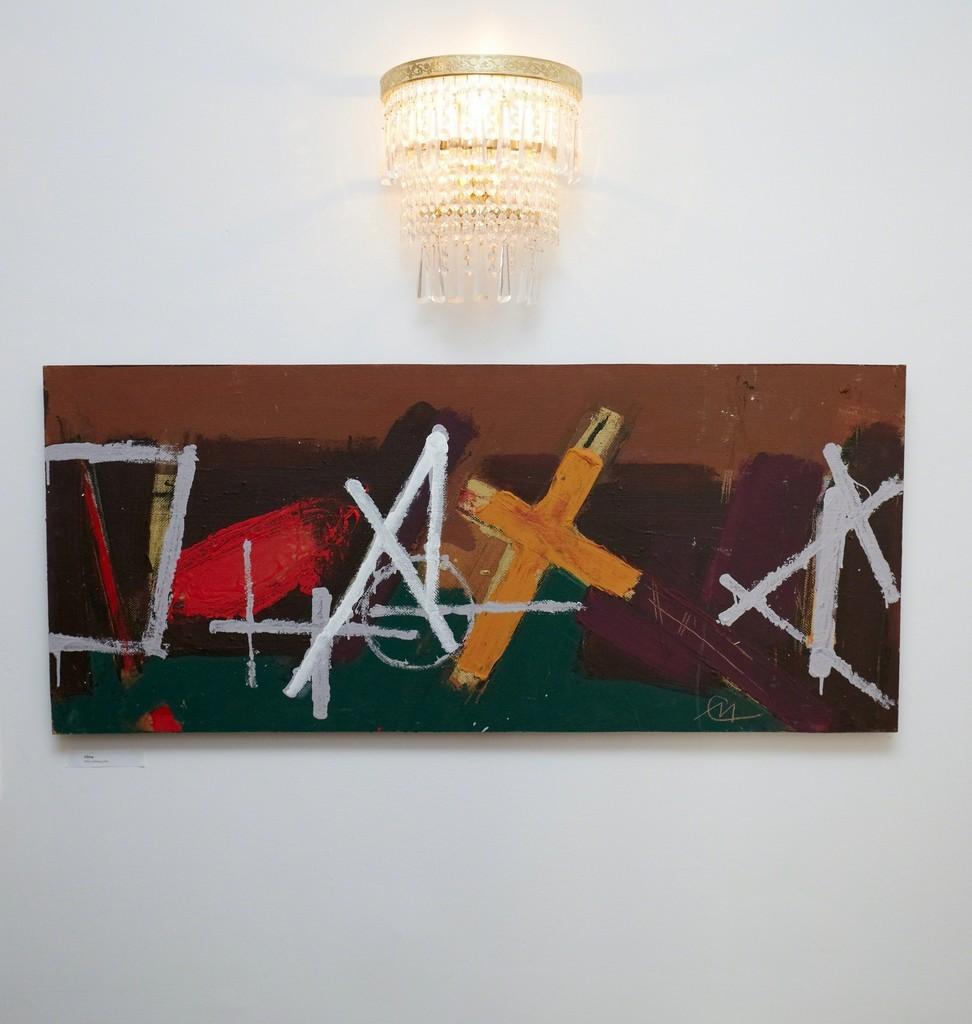 """VILMA"" (2012) by Miroslav Cipár , 110x47,5cm, acrylic on wood, photo credit: Karl Michalski"