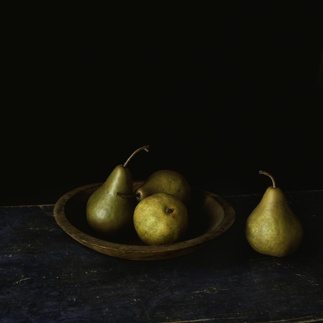 Paul Cary Goldberg, 'Still Life with Four Pears and Wooden Bowl', Pucker Gallery