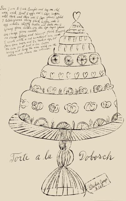 Andy Warhol, 'Torte a la Dobosch', 1959, Woodward Gallery