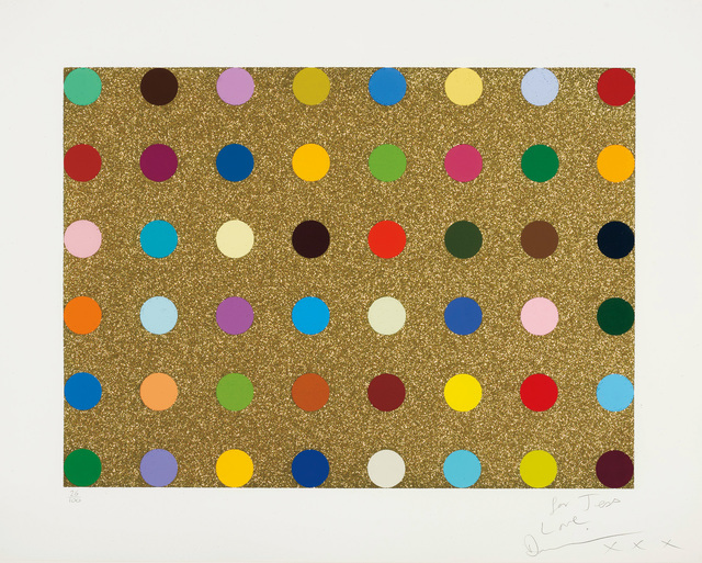 Damien Hirst, 'Untitled Gold Gift Spot', 2008, Phillips
