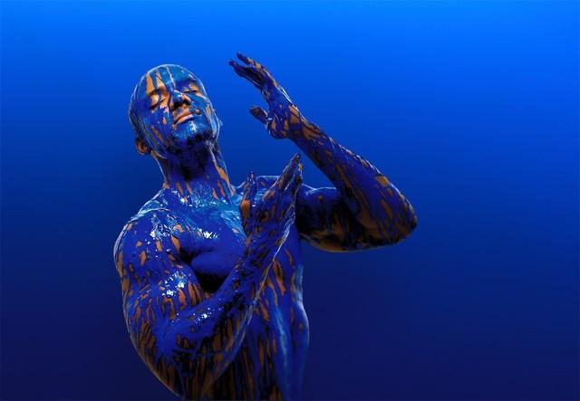 , 'Blue I,' 2017, Connect Contemporary
