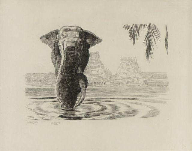 , 'Elephant of Madura,' ca. 1931, Galerie Marcilhac