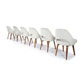 Set of Six Executive Chairs,  Model 61, Knoll Associates, USA