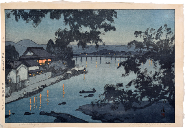 , 'Evening on the Chikugo River, Hita,' 1927, Scholten Japanese Art