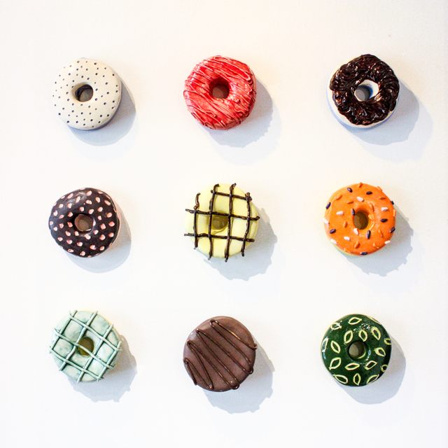 Liv Antonecchia, 'Spring Mix Donut Set', Sculpture, Stoneware clay and ceramic glaze, Miller Gallery Charleston