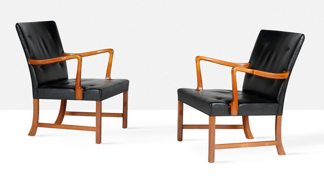Ole Wanscher, 'Pair of lounge chairs', circa 1950, Aguttes