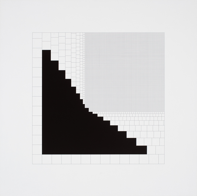 , 'regressiv-synthetisches quadrat 1-1974,' 1974, VILTIN Gallery