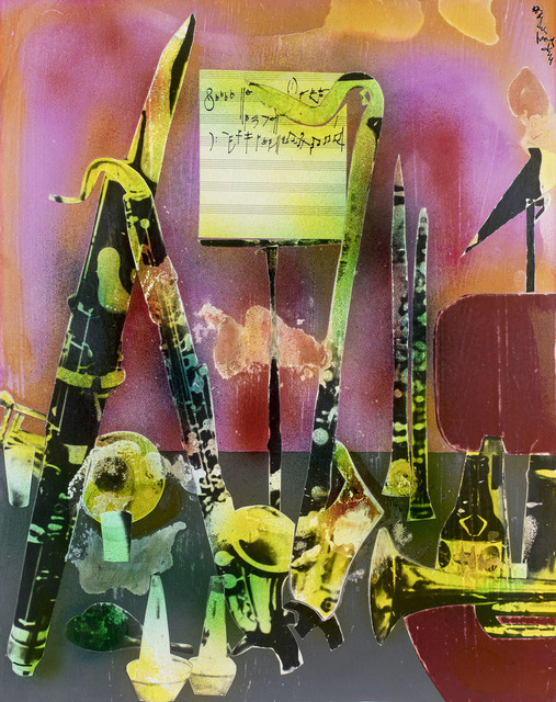 , 'Of the Blues: Intermission Still-Life, Instruments of Dixieland,' 1974, Michael Rosenfeld Gallery